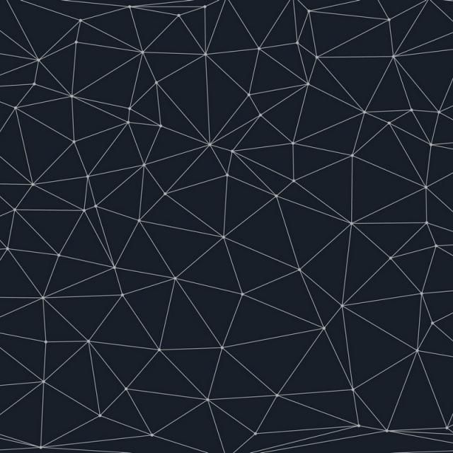 Low Poly Background With Connecting Dots And Lines Shape