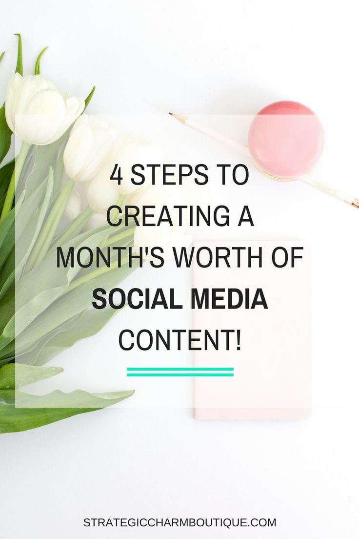 4 Steps to Creating & Scheduling a Month's Worth of Social Media Content — Strategic Charm