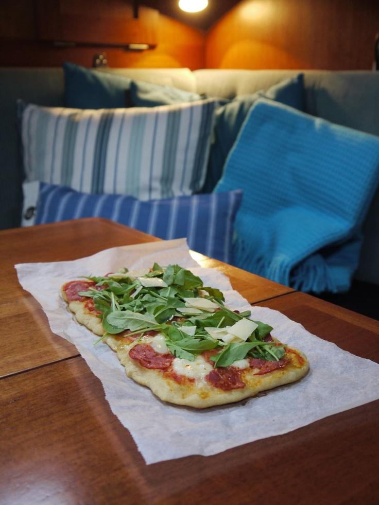 Pizza onboard #sailing