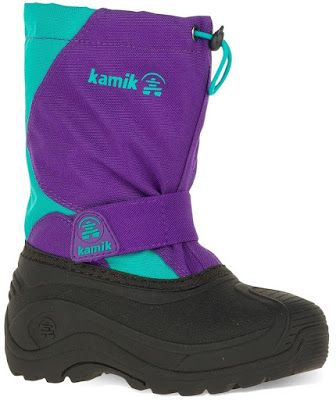 These Kamik Snowfox Toddler Winter boots are very durable and waterproof.   These boots are temperature rated at -25°F / -32°C.  They feature an adjustable bungee & toggle collar and a hook & loop midfoot strap for a snug and comfortable fit.