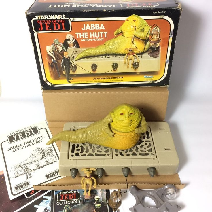 Vintage Kenner 1980's Star Wars Figure Play-Set - Jabba The Hutt 100% Boxed | eBay