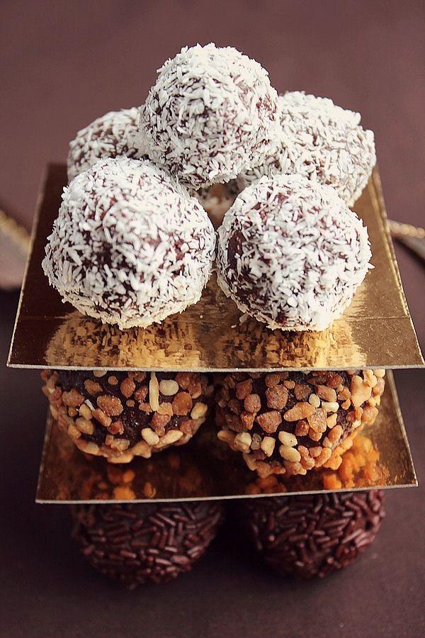 Truffes au Chocolat Pralin & Noix de Coco #5