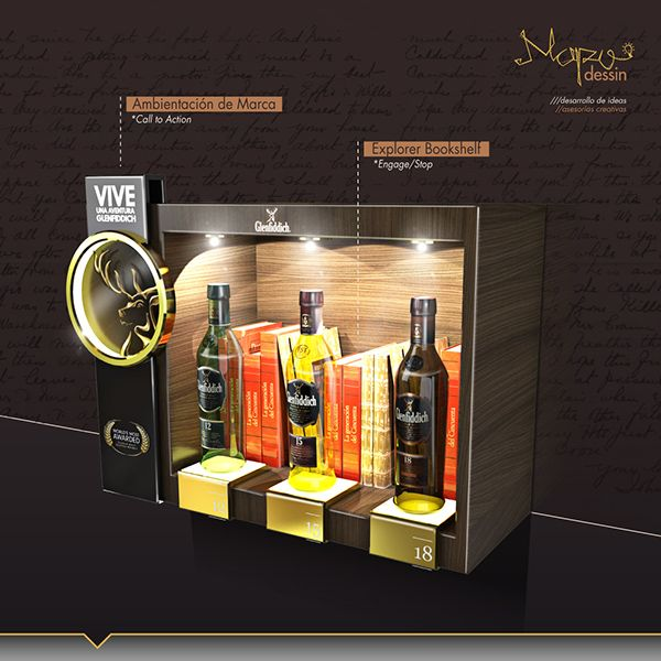 Creative Display Glenfiddich. Luxury safes, luxury brands, exclusive design, luxury goods, luxury life, maison et objet. For more luxury news check out: http://luxurysafes.me/blog/