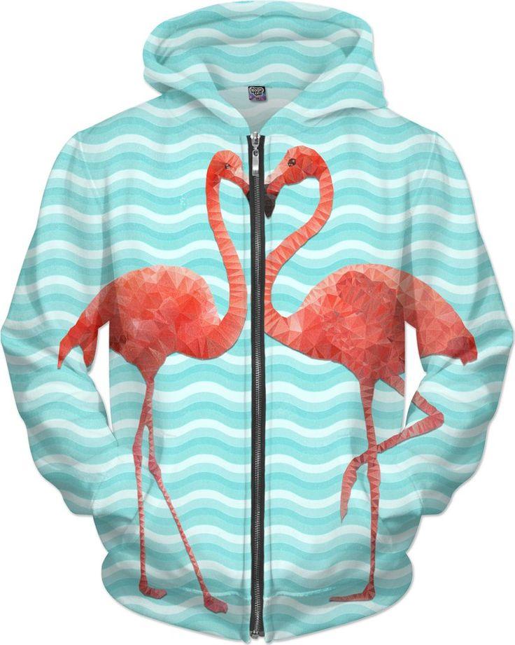 polygon flamingos