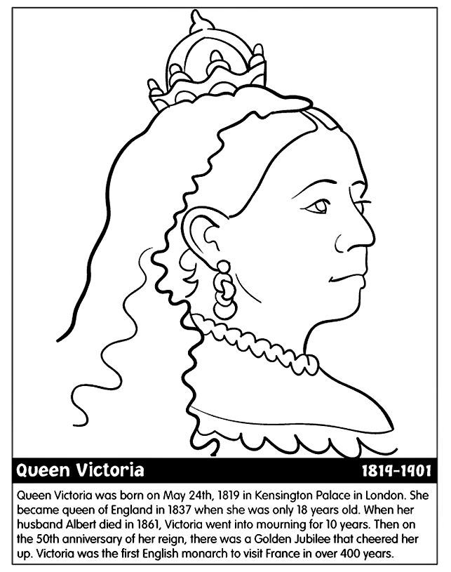 queen victoria printable colouring page