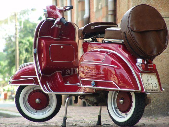 All Vespa - Candy Apple Red VLB restored Vintage scooter