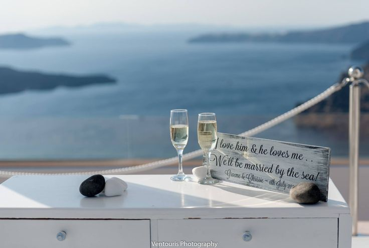I love him & he loves me we''ll be maried by the sea!Chrissie's & Graeme's wedding in Santorini Gem by Heliotopos weddings!