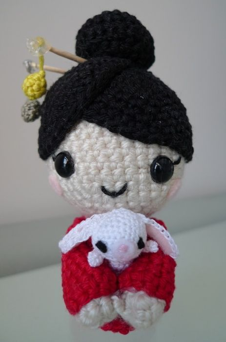 Kokeshi Doll Knitting Pattern : Amigurumi!!!. Crochet & Knitting Pinterest Motifs, Crochet et Tutor...
