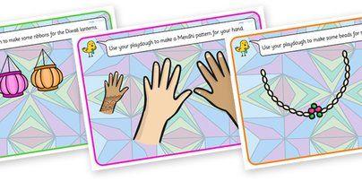 Twinkl Resources >> Diwali Playdough Mats >> Classroom printables for Pre-School, Kindergarten, Primary School and beyond! diwali, playdough mats, play doh mats, play dough, playdough, play doh, fine motor skills, fine motor worksheets, diwali worksheets,