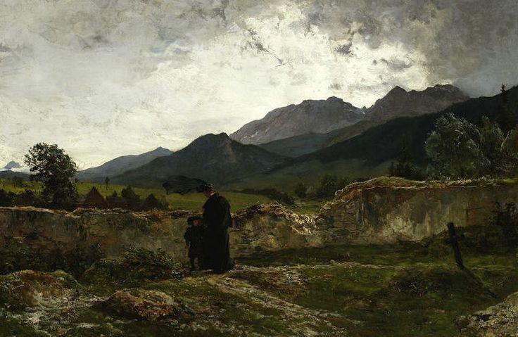 polishartandtea:  Wojciech Gerson 1831-1901 (Polish), Cemetery in the mountains, oil on canvas, 1894