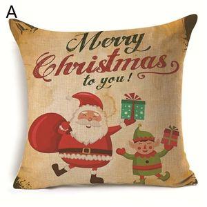 (EU Lager)Weihnachten Kissenbezüge Weihnachtsmann Weihnachtshirsch Design