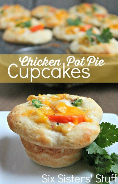 Chicken Pot Pie Cupcakes | Recipe | Pot pies, Pies and Chicken pot ...