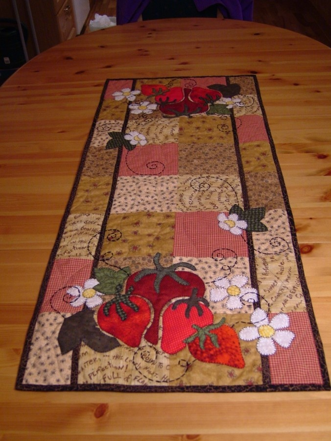 Cute strawberry table runner