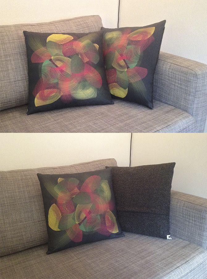 Digital Printing -pillows by Nina van der Zee
