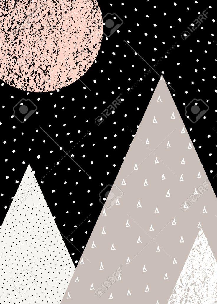 Absztrakt Geometriai Kompozíció Fekete, Fehér, Taupe és Pasztell Rózsaszín. Kézzel Készített Vintage Textúra, Pontok Mintázat és Geometriai Elemek. A Modern és Elegáns Absztrakt Motívum Poszter, Borító, Kártyák Tervezése. Royalty Free Clip Artok, Vektorokt és Stock Illusztrációk. Image 55003115.