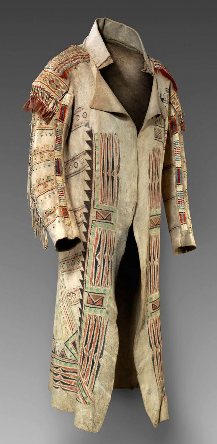 Coat from the Ojibwa of Ontario, Canada | ca. 1789 | Native leather, rawhide…