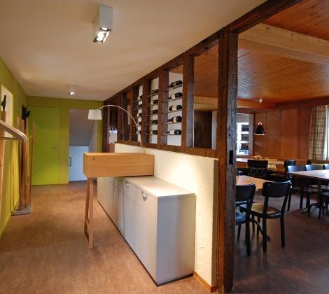 Innenarchitektur Restaurant Krähenblühl, Mühlau, Schweiz