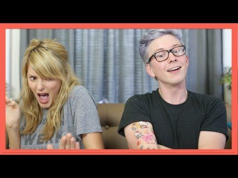▶ 2GIRLS1CUP REACTION (ft. DailyGrace) | Tyler Oakley - YouTube
