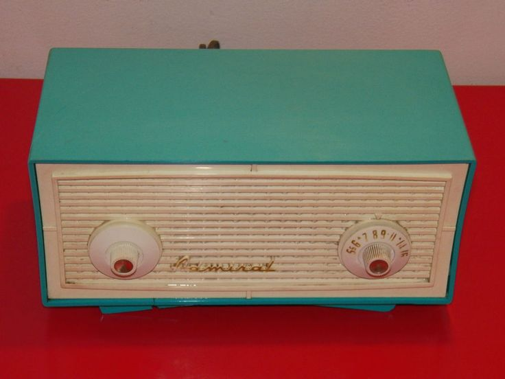 VINTAGE ADMIRAL TUBE TYPE AM TURQUOISE RADIO MODEL # D48 40s 50s KITCHEN DINER #Admiral