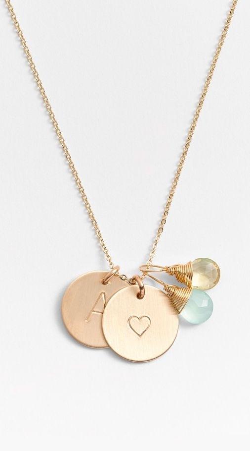Personalized charm necklace... This would be cute with each of the kids initials and birthstone (Diy Necklace Simple)