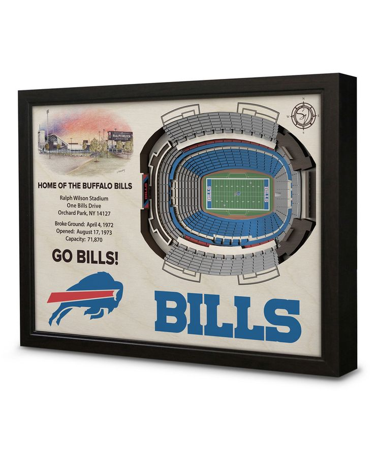 Take a look at this Buffalo Bills Ralph Wilson Stadium Wall Art today!