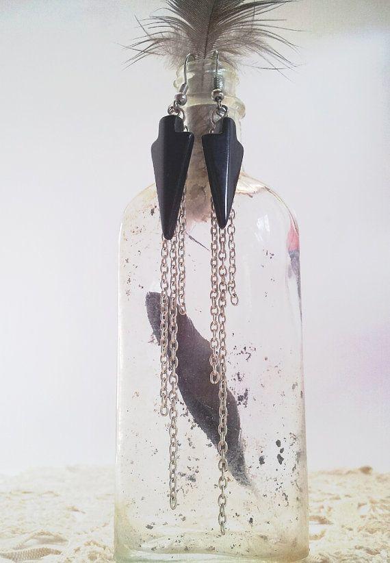 Black Obsidian Crystal Arrowhead Tassel by FeathermoonByronBay