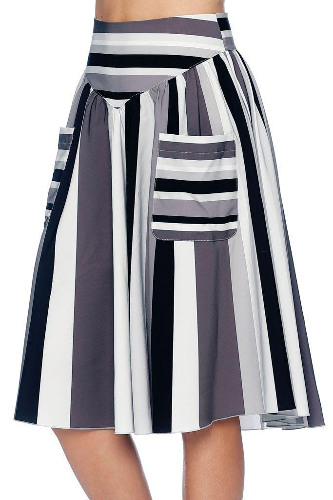 Sad Ice Cream Cake Yoke Midi Skirt - LIMITED (AU $99AUD) by BlackMilk Clothing