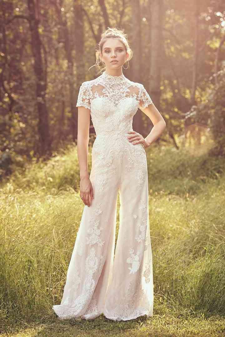 Noivas de calças: originalidade e inovação em 46 modelos   – Casamento vestido