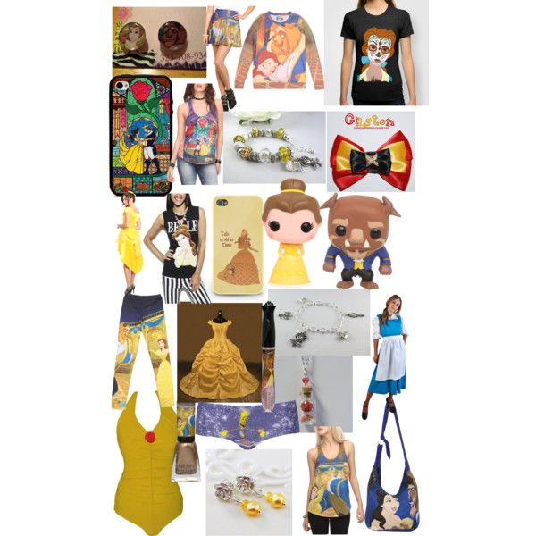 Cute Beauty and The Beast Merch :D by caitlynstultz on Polyvore featuring Wet Seal, Disney and Topshop
