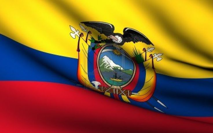 Flying Flag of Ecuador | All Countries Collection | Stock Photo - 10072905