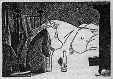 Sleeping moomin