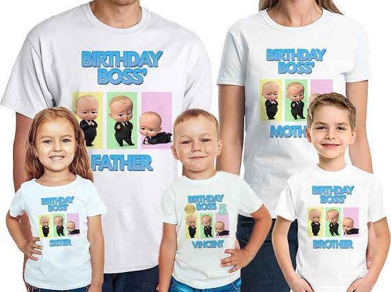 Jefe bebé cumpleaños camiseta personalizada nombre y edad jefe