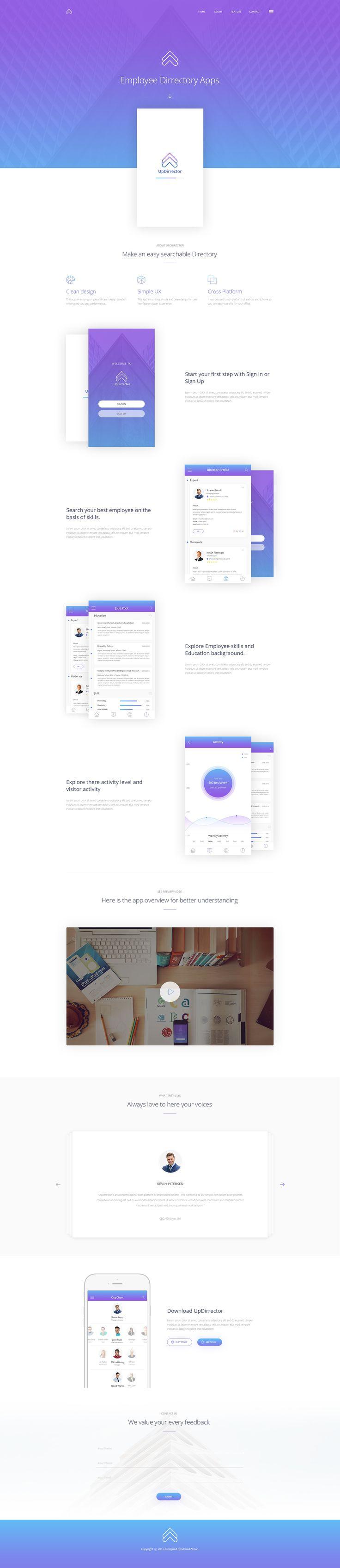 UpDirrector App Landing Page – SiteUp