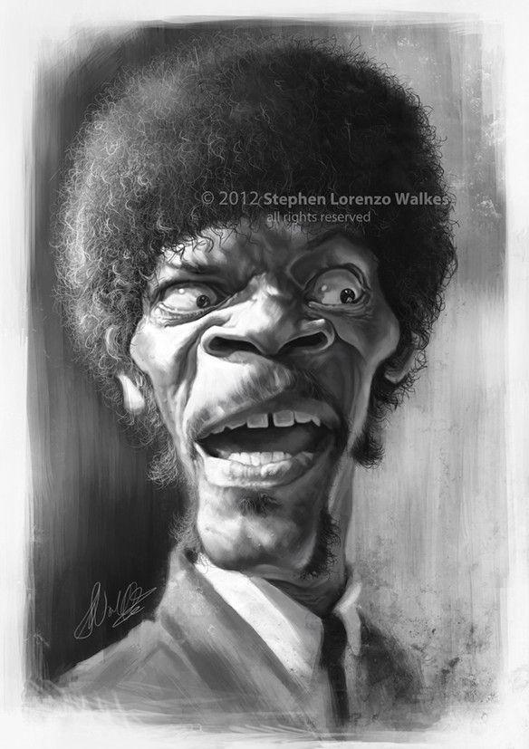 Pulp Fiction's Jules Winnfield (Samuel L Jackson) by Lorenzo00