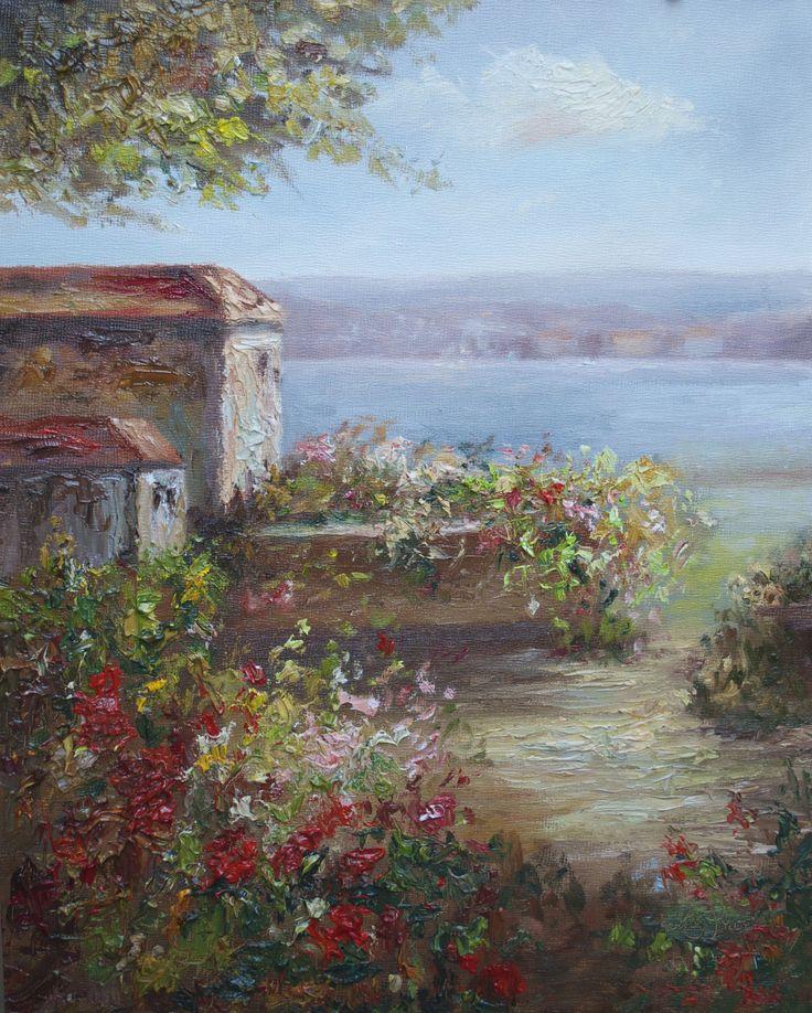 """""""Amalfi Garden"""", 14x11, oil www.lisapricefineart.com"""