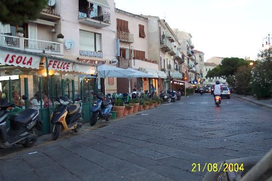 This one of the main roads in La Maddalena.