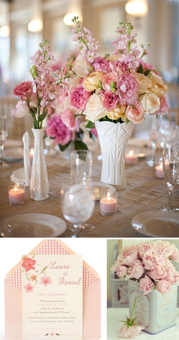 349 best images about wedding flowers on pinterest mesas - Mesas de boda decoradas ...