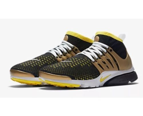 Nike Air Presto Flyknit Ultra Black Gold Huarache 835570-007 Men's Size  10.5 #Nike
