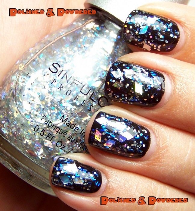 Sinful Colors - Crystal Clear (over Sinful Colors Black On Black)
