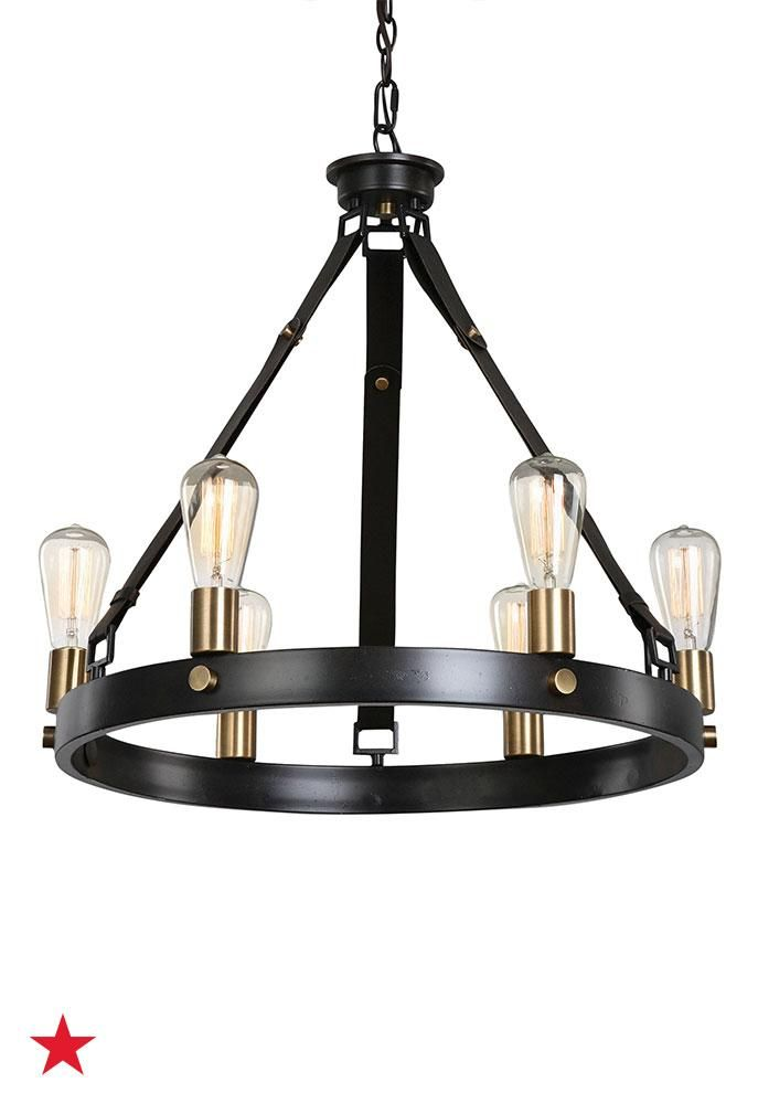 Uttermost marlow 6 light chandelier