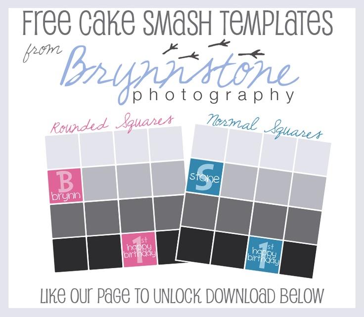 Free Cake Smash Photoshop Templates