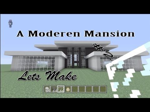 Minecraft lets build a modern house part 1 of 3 for Keralis modern house 9 part 1