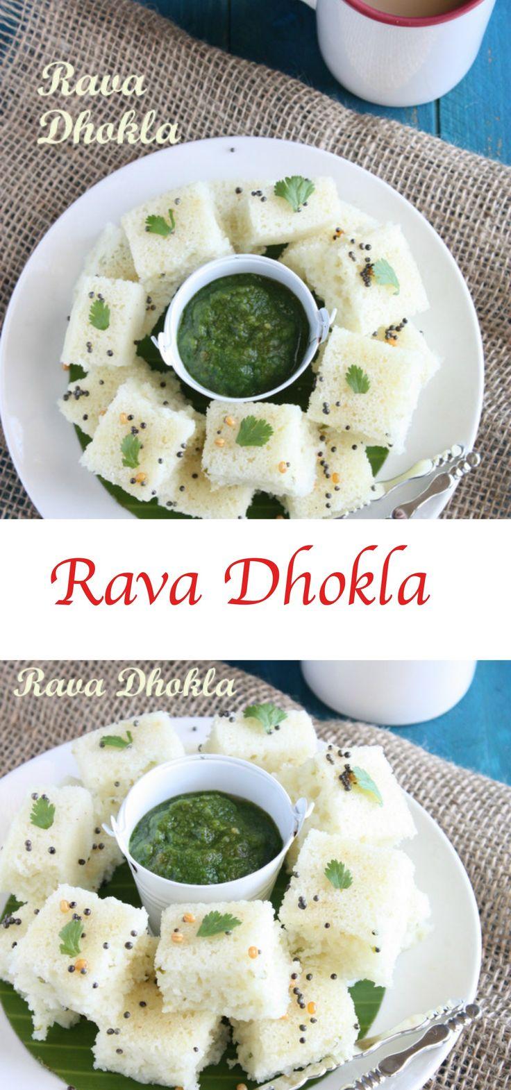 Rava Dhokla | White Dhokla | Rava Steamed Cake