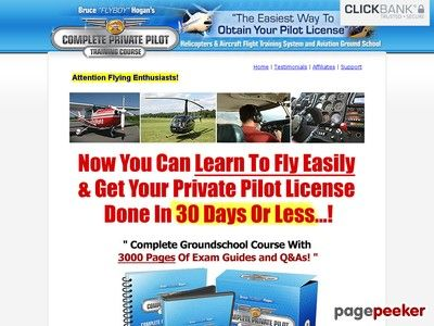 #New post #Over 3000 Private Pilot Manuals and Exam Handbooks | Private Pilot License Licence Groundschool Training | PPL JAR JAA FAA ATP  http://pagepeeker.com/t/l/www.completepilot.com     Hot Seller! Converts At 8.3%. Earn $47.25 Per Sale With Oto And Upsells! Brand New, Strong Niche & Few Affiliates To Compete With! Completepilot = Over 3000 Groundschool Manuals, Guides, Test Prep And Flight Training Materials For Private Pilots.  Over 3000 Private Pilot Manuals and.