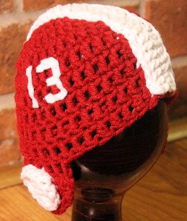 Crocheted Alabama Football Helmet