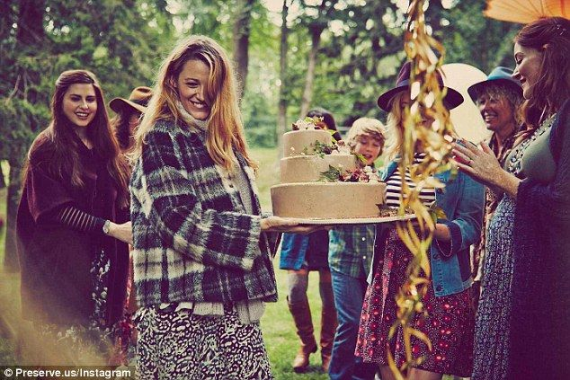 'With a new baby on the way there is so much to do!' Last Friday, Blake shared snaps from her autumn-themed outdoor baby shower on her lifestyle/E-commerce website, Preserve.us