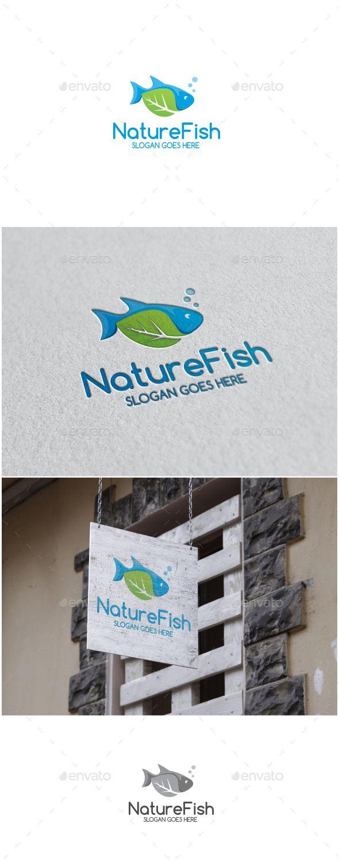 Nature Fish Logo,animal, club, ecology, farm, fin, fish, fishing, green, hobby…