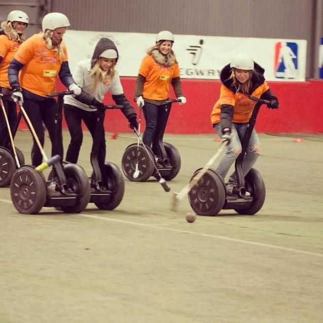 Girl teams goes Segway Polo