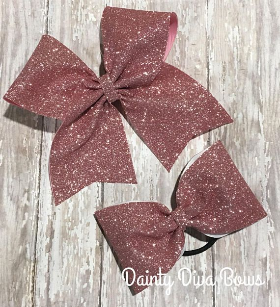 $10.99. ROSE GOLD Cheer Bow, Tail or No Tail Cheer Bow, Large Glitter Cheer Bow, Sparkle Bow, Cheerleading Bow, Glitter Bow, Big Cheer Bows #cheerleading #ad