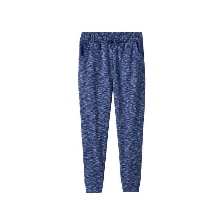 Girls Plus Size SO® Crochet Pocket Jogger Pants, Girl's, Size: 12 1/2, Blue